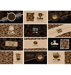 Business card coffee vector