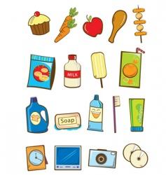 Supermarket item vector