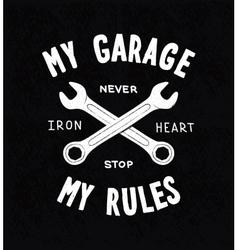 Vintage typographic biker or auto repair shop vector