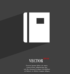 Book icon symbol flat modern web design with long vector