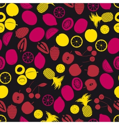 Fruits and half fruits color seamless pattern vector