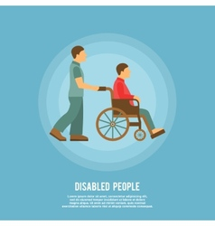 Disabled person poster vector