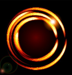 Abstract background-fire circle frame vector