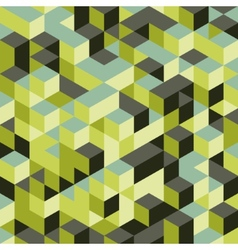 Abstract 3d background wall of cubes vector