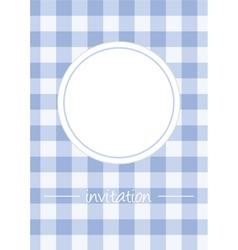 Retro blue vintage card or invitation with checker vector