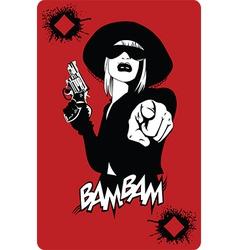 Femme fatal background vector