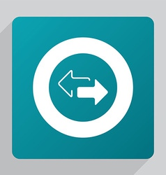 Flat 2 side arrow icon vector