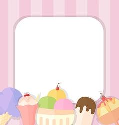 Ice cream summer background vector