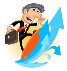 Climbing up corporate ladder vector