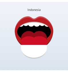 Indonesia language abstract human tongue vector