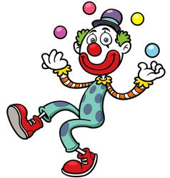 Funny clown vector