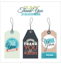 Vintage thank you labels vector