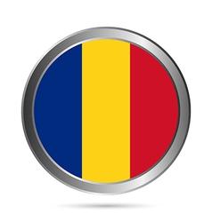 Romania flag button vector