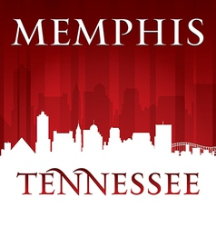 Memphis tennessee city skyline silhouette vector