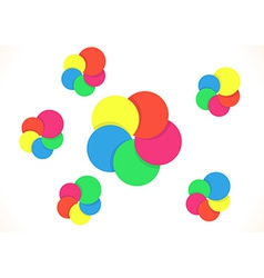 Five color rings vector