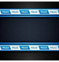 Metallic perforated sheet police background vector