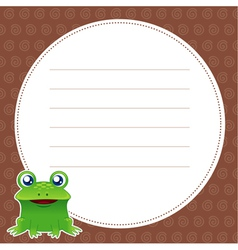Frog with white blank vector