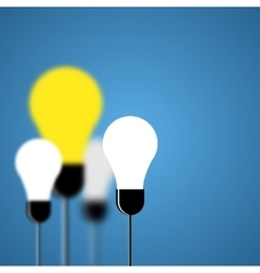 Modern light bulb background vector