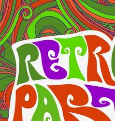 Retro party pattern vector