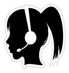 Call center executive icon vector