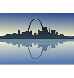 Saint louis downtown riverfront vector