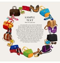 Luxury fashion shopping frame vector