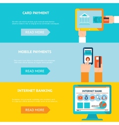 Internet banking and mobile payments vector