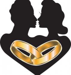 Marriage love vector