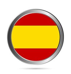 Spain flag button vector