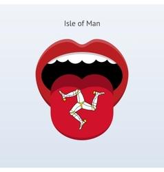 Isle of man language abstract human tongue vector