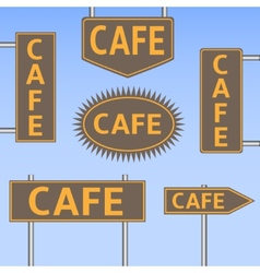 Cafe banners vector