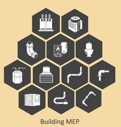 Building mep - mechanical-plumbing vector