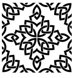 Black celtic seamless pattern vector