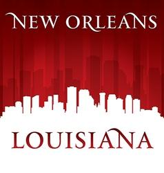 New orleans louisiana city skyline silhouette vector