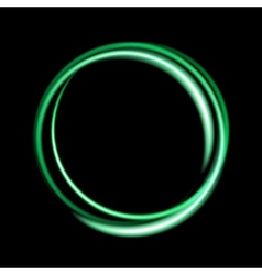 Green neon circle background vector
