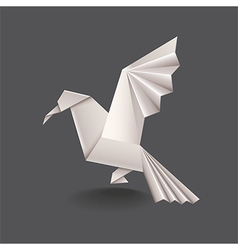 Origami bird isolated vector