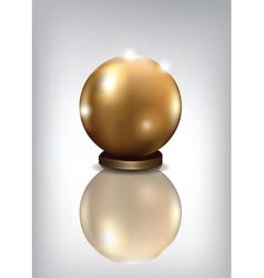 Golden sphere award vector
