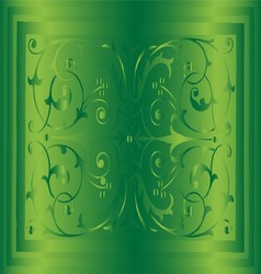 Abstract green background of elegant vintage flora vector
