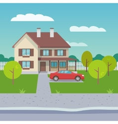 Family house flat vector