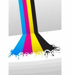 Cmyk paint vector