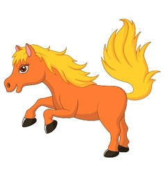 Cute pony horse cartoon vector