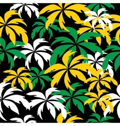 Palm trees in jamaica colors seamless background vector