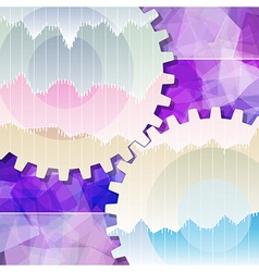 Gears background teamwork business vector