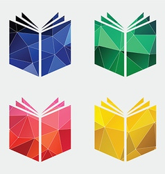 Book icon abstract triangle vector