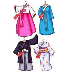 Asian dresses vector