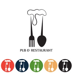 Restaurant and pub negative space concept and web vector
