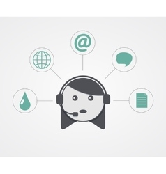 Modern support woman with sample icon on vector