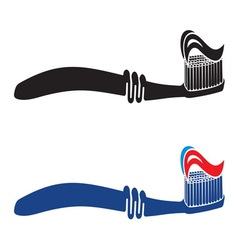 Toothbrush set vector
