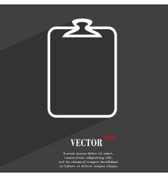 Paper clip icon symbol flat modern web design with vector