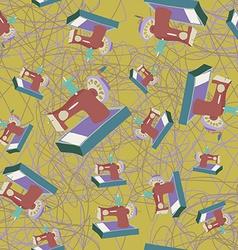 Sewing machine seamless pattern vector